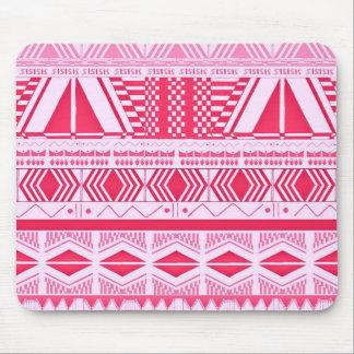 Modelo del Azteca del rosa del caramelo de algodón Mouse Pads