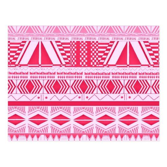 Modelo del Azteca del rosa del caramelo de algodón Tarjetas Postales