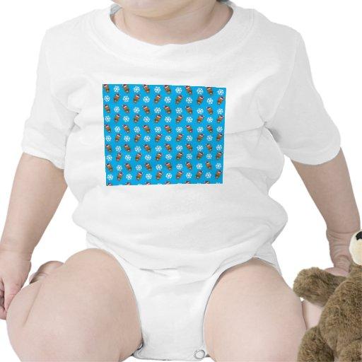 Modelo del azul de cielo del copo de nieve del traje de bebé