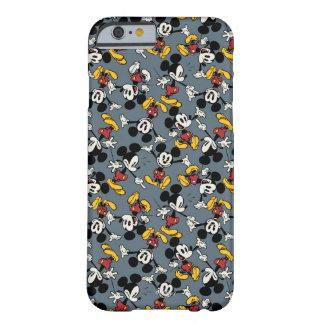 Modelo del azul de Mickey Mouse Funda Para iPhone 6 Barely There