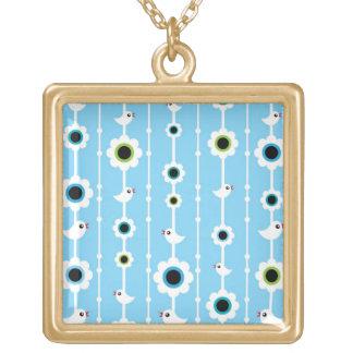modelo del azul del pájaro y de las flores joyerias personalizadas