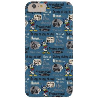 Modelo del azul del pato Donald Funda De iPhone 6 Plus Barely There
