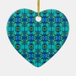 modelo del azul del trullo de la turquesa ornamentos para reyes magos