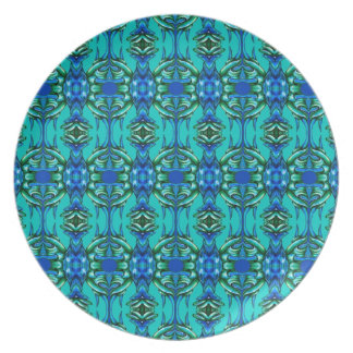 modelo del azul del trullo de la turquesa plato