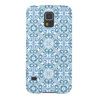 Modelo del azul del vintage de Emma Janeway Carcasas De Galaxy S5
