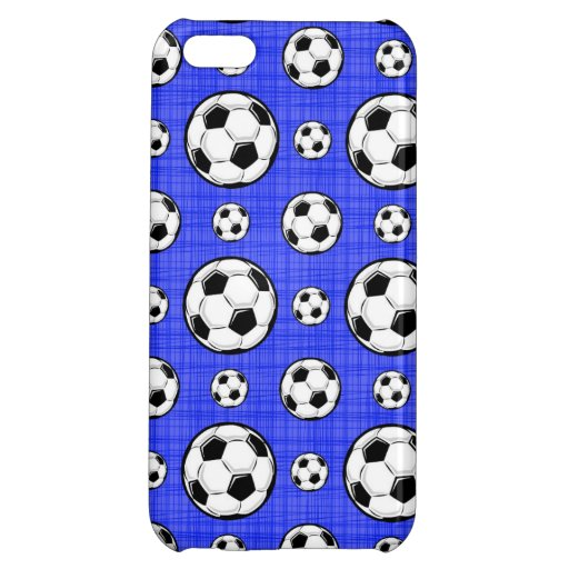 Modelo del balón de fútbol de azul real