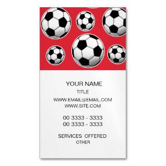 Modelo del balón de fútbol de carmesí de alizarina tarjetas de visita magnéticas (paquete de 25)