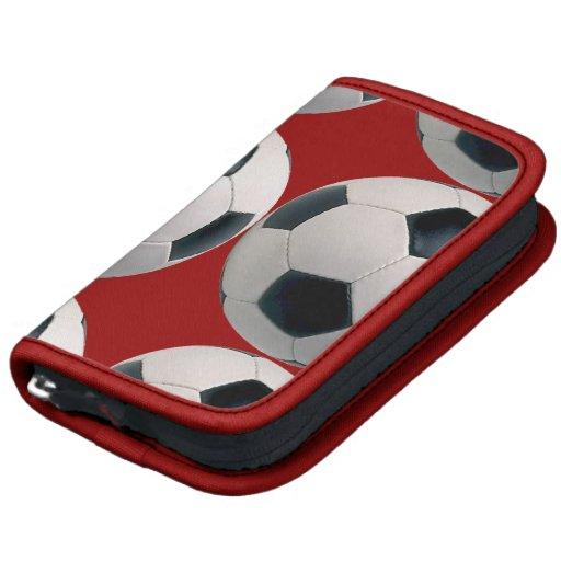 Modelo del balón de fútbol en rojo organizadores