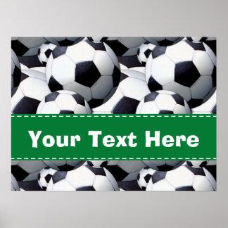 Modelo del balón de fútbol posters