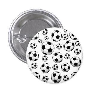 Modelo del balón de fútbol pin redondo de 1 pulgada