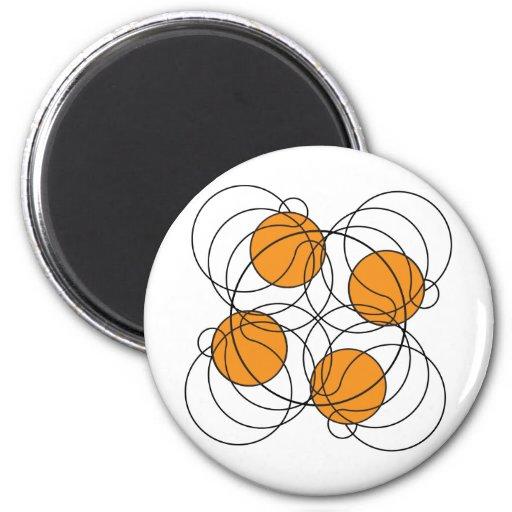 Modelo del baloncesto 4 - 3D Imán Redondo 5 Cm