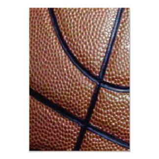 """Modelo del baloncesto de la piel de cerdo con las invitación 3.5"""" x 5"""""""