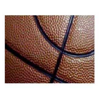 Modelo del baloncesto de la piel de cerdo con las tarjeta postal