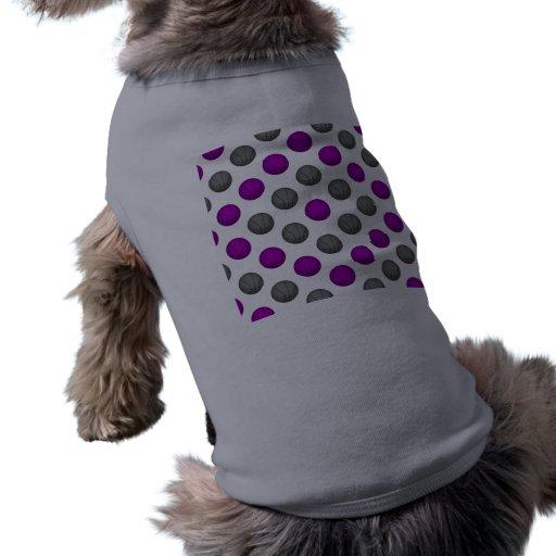 Modelo del baloncesto de la púrpura y de los gris  playera sin mangas para perro