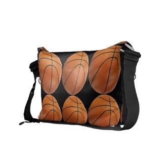 Modelo del baloncesto en negro bolsa de mensajeria