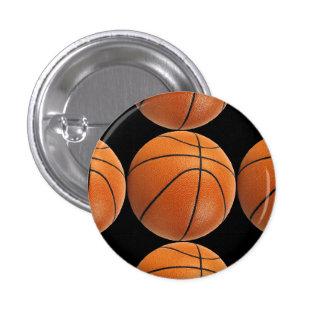 Modelo del baloncesto en negro pin redondo de 1 pulgada