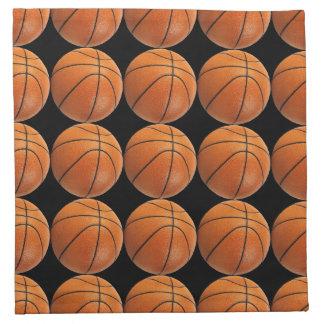Modelo del baloncesto en negro servilleta