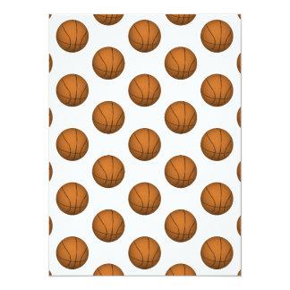 """Modelo del baloncesto invitación 5.5"""" x 7.5"""""""