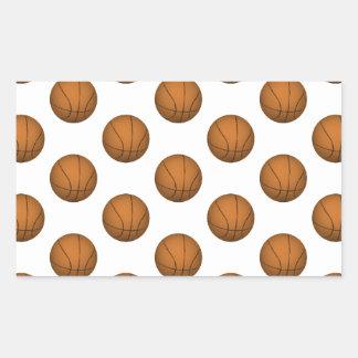 Modelo del baloncesto pegatina rectangular