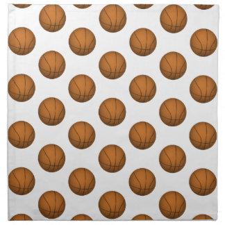 Modelo del baloncesto servilleta de papel