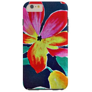 Modelo del batik, colores tropicales, caso más del funda para iPhone 6 plus tough