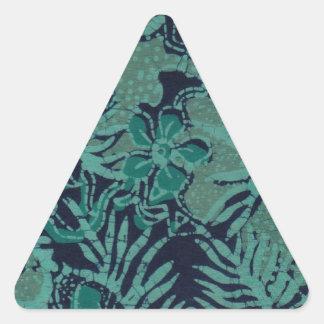 Modelo del batik de la marina de guerra y de la pegatina triangular