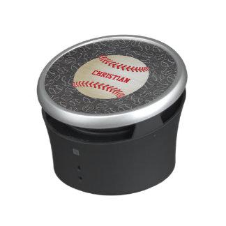 Modelo del béisbol de la pizarra con nombre y altavoz