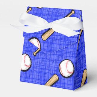 Modelo del béisbol del azul real caja para regalo de boda