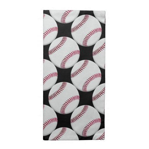 Modelo del béisbol en negro o cualquier color servilleta