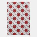 Modelo del béisbol en rojo o cualquier color toalla