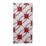Modelo del béisbol en rojo o cualquier color servilletas imprimidas