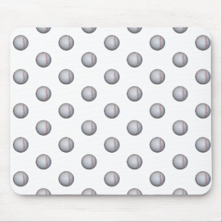 Modelo del béisbol mouse pads