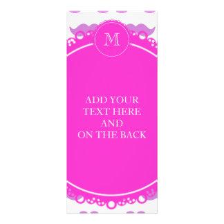 Modelo del bigote de la lila, monograma del blanco diseño de tarjeta publicitaria