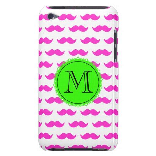 Modelo del bigote de las rosas fuertes, monograma  iPod Case-Mate carcasas