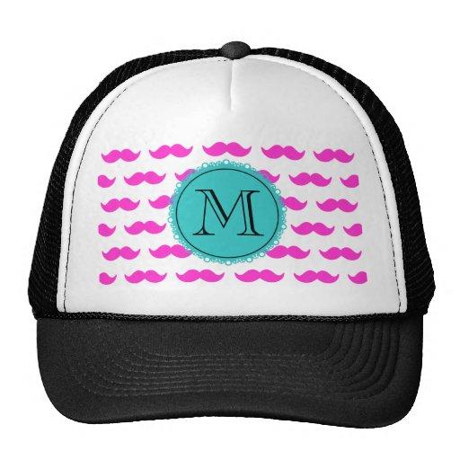 Modelo del bigote de las rosas fuertes, monograma  gorras de camionero