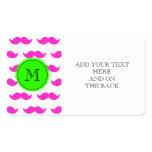 Modelo del bigote de las rosas fuertes, monograma  plantillas de tarjetas de visita