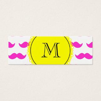 Modelo del bigote de las rosas fuertes, monograma tarjeta de visita pequeña