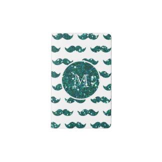 Modelo del bigote del brillo de la turquesa su cuaderno de bolsillo moleskine