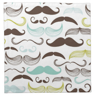 Modelo del bigote, estilo retro 2 servilletas