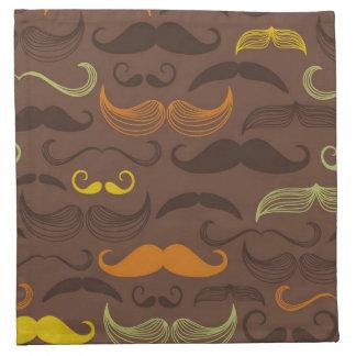 Modelo del bigote, estilo retro 5 servilleta de papel