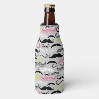 Modelo del bigote, estilo retro enfriador de botellas