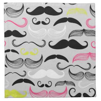 Modelo del bigote, estilo retro servilleta
