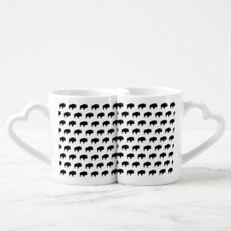modelo del bisonte set de tazas de café