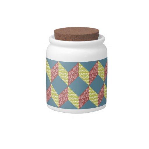 Modelo del bloque del bebé del edredón en colores  jarras para caramelos