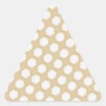 Modelo del boda del vintage - personalizar calcomanías trianguloes