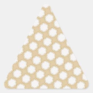 Modelo del boda del vintage - personalizar pegatina triangular