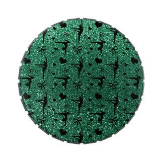 Modelo del brillo de la gimnasia de la verde menta frascos de caramelos