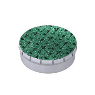 Modelo del brillo de la gimnasia de la verde menta jarrones de dulces