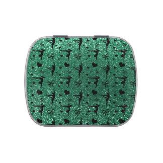 Modelo del brillo de la gimnasia de la verde menta frascos de dulces