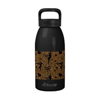 Modelo del brillo de la gimnasia del oro botellas de beber